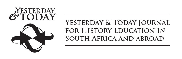 Yesterday & Today Journal for History Education in South Africa and abroad